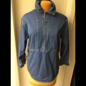 Vintage Escada Sport Blue Denim Pullovers Shirt